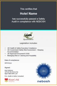 H&C Certificate
